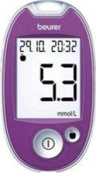 Beurer Diabetes Blood Glucose Monitor Gl 44 Mmol l - Purple