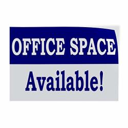 Decal Sticker Multiple Sizes Office Space Available Rent Lease Business Office For Rent Outdoor Store Sign Blue - 12INX8IN One Sticker