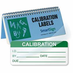 "Smartsign Calibration Label Book 0.625"" X 1.5"" Vinyl Label With Self-laminating Clear Flap 320 Labels book"