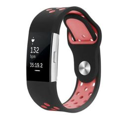 Killerdeals Silicone Strap For Fitbit Charge 2 M l - Black & Pink