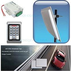 Full Car Access Control Vehicle Parking Control Bus Gate Control System Uhf Rfid Long Distance Reader+controller+windshield Tags+parking Application 5