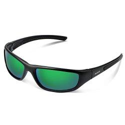 d6feb9c2c1 Duduma TR8116 Polarized Sports Sunglasses For Baseball Cycling Fishing Golf  Superlight Frame Black Matte Frame With Green Lens