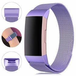 Find-myway Replacement Compatible With Fitbit Charge 3 Bands charge 3 Se Metal Bands Wristband Accessory Breathable Sport Bracelet Strap Small & Large For Women Men