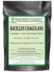 Bacillus Coagulans - Temperature & Digestive Acid Stable Probiotic Powder L. Sporogenes - 50 Billion gram 2 Oz