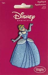 "Disney Princess Cinderella 2.75"" Tall Iron On Applique Patch"