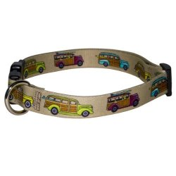 """Yellow Dog Design Woodies Dog Collar With Tag-a-long Id Tag SYSTEM-MEDIUM-3 4"""" And Fits Neck 14 To 20"""" 4"""