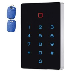 Supreform IP67 Outdoor Waterproof Universal 12-24VDC Digital Touch-key Wired Keypad For Garage Door Access Control Systems And Gate Opener Code Or Id Card Access
