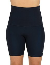 SPA Delfin Women's Mineral Infused High Waist Exercise Shorts Black 2XL
