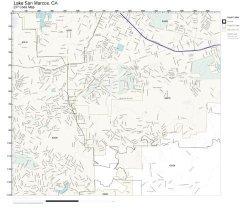 Zip Code Wall Map Of Lake San Marcos Ca Zip Code Map Laminated