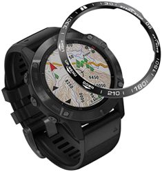For Garmin Shan-s Fenix 6 Scale Watch Loop Sport Anti Scratch Stainless Steel Smart Watch Ring Adhesive Cover Anti Scratch & Collision Protector Fenix 6 Smartwatch