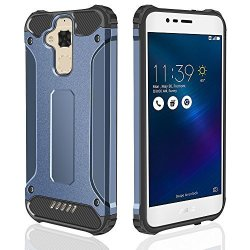huge selection of 13080 1b41b Jiunai Zenfone 3 Max 5.2 Case Ultra Protective Armor Asus Zenfone 3 Max 5.2  Phone Case Hybrid Dual Layer Shockproof Raised Lip Cover Zenfone 3 Max 5.2  ...