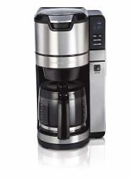 HAMILTON BEACH Programmable Grind And Brew Coffee Maker 45505 12 Cup Black