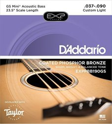 D'Addario EXPPBB190GS Phosphor Bronze Coated Acoustic Bass Strings Taylor Gs MINI Scale 37-90