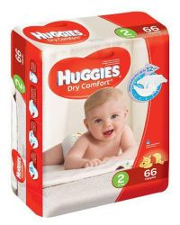 Huggies Dry Comfort 66 Nappies Size 2