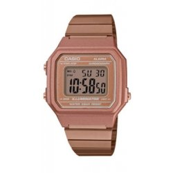 Casio B650WC-5ADF Retro Digital Square Watch - Rose Gold