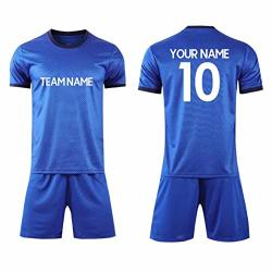 Custom Personalized Your Soccer Jerseys & Shorts Custom Any Name Number Team Sports Training Uniforms Adult XL Royal Blue