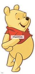 "WiggleWigal LC 10"" Winnie The Pooh Bear Disney Removable Peel Self Stick Adhesive Vinyl Decorative Wall Decal Sticker Art Kids Room Home Decor Girl Boy Children"