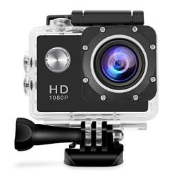 GBB Sport Action Ultra HD 1080P Digital Camera Waterproof Camera 12MP Camcorder Dv 170 Degree Wide Angle Mic speaker Motion Detection With 2 Rechargeable Batteries