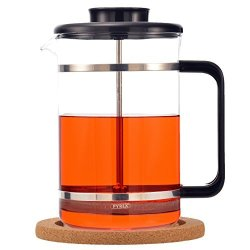 GROSCHE Mombasa Premium French Press 1500ML 51OZ With Stainless Steel Press Mechanism And Added Micro-filter Mesh Disc. Includes 1 Replacement Filter Screen A