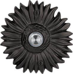 Waterwood Solid Brass Sunflower Doorbell In Black