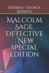 Malcolm Sage Detective - New Special Edition Paperback