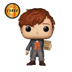 Newt Scamander Chase Edition : Fantastic Beasts - The Crimes Of Grindelwald X Funko Pop Vinyl Figure & 1 Pet Plastic Graphical Protector Bundle 014 32751 - B