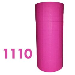 Labels For Monarch 1110 Fluorescent Pink Price Gun 16 Rolls Ink Roller Included