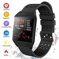Bluetooth Smart Watch Fitness Tracker Activity Tracker Heart Rate Sleep Monitor Message Reminder Pedometer Sport Watches Compatible With Ios Android Phones Smartwatch IP67 Waterproof