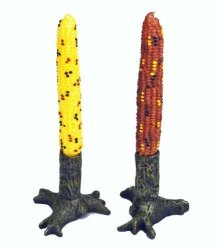 Tag Autumn Harvest Corn Taper Candle Set Of 2