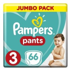 Pampers Baby-dry Size 3 Jumbo Pack 66 Nappy Pants