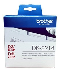 "Brother Printer Brother DK-2214 Continuous Length Tap 100 Feet 0.47"" Wide"