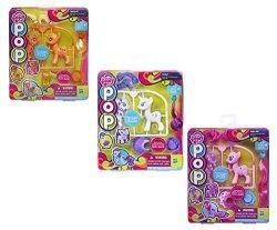 Hasbro Secret For Longevity 3-PACK My Little Pony Horse Pink Pinkie Pie White Unicorn Rarity Orange Applejack Figures Pop Starter Style Kit Play Set Toy