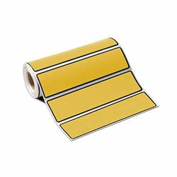 """Carstens Self-adhesive Labels For 1"""" Ring Binder Spines - 5 3 8"""" X 1"""" Goldenrod Roll Of 200"""