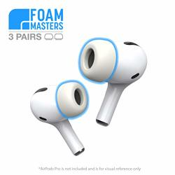Premium Memory Foam Ear Tips For Airpods Pro 3 Pairs Small Med Large Replacement Buds Foam Masters Version 3.0 White