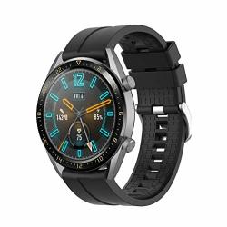 Sodoop Band Compatible For Huawei Watch GT Active 46MM Honor Magic Fashion Sport Texture Soft Silicone Waterproof Replacement Wristband Strap For Huawei Watch GT