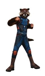 Rubies - Domestic Rubie's Costume Guardians Of The Galaxy Vol. 2 Deluxe Muscle Chest Rocket Raccoon Costume Multicolor Large