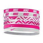 Nike Printed Assorted Headbands 6PK Osfm Vivid Pink white