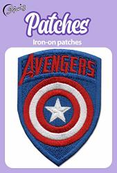 Iron On Patches - Captain America Iron On Patch Embroidered Applique The First Avenger Shield Marvel Superhero S-72
