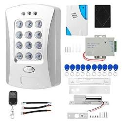UHPPOTE Full Complete Stand-alone Door Access Control System Kit With Electric Strike Lock Power Supply Remote Control