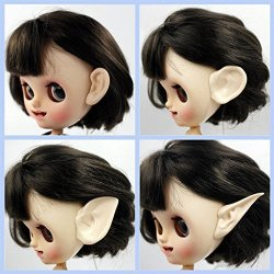 Doll Body Extra Part Resin Ears Paste Set Makeup For 12INCH Blythe Takara Licca Azone Doll Diy Making Accessory Big Ear