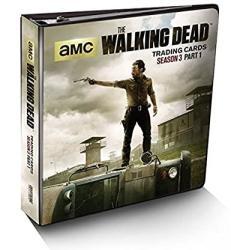 Walking Dead Season 3 Part 1 Trading Card Binder W exclusive M28 Wardrobe Card