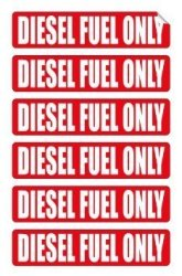 LD Industries 6 Pack Diesel Fuel Only Decals Stickers Labels Markers