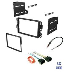 ASC Car Stereo Dash Kit Wire Harness And Antenna Adapter Combo To Add Dash Kit And Wiring Harness on