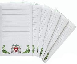 USA Meehan Irish Coat Of Arms Notepads - Set Of 6