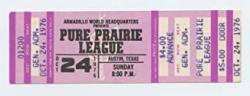 USA Pure Praire League Ticket 1976 Oct 24 Austin Tx Unused