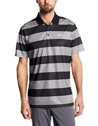 cf1c33b72f Nike Golf Mens Clothing Nike Men's Golf Victory Bold Stripe Polo - Large -  Dark Grey black white