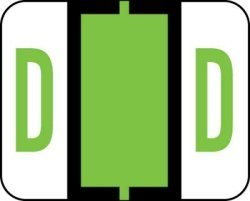 Amzfiling Alphabetic Color Code Labels Compatible With Smead Bccr- Letter D Light Green 120 PACKAGE