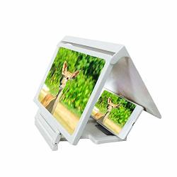Layopo Magnifying Glass For Phone 3D Mobile Phone Screen Magnifier HD Video Amplifier For Smartphone Clear Screen Dynamic Feeling Universal Mobile Phone Screen Amplifier White
