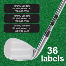 Personalized Golf Club Labels 36PCS