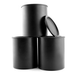 Plastic BLACK Paint Cans 3-PACK Quart Size Cans For Paints & Varnishes Or Crafts & Gifts